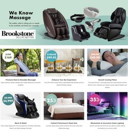Department Stores deals in the Brookstone catalog ( 2 days left)