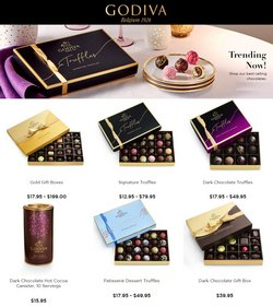 Gifts & Crafts deals in the Godiva Chocolatier catalog ( 11 days left)