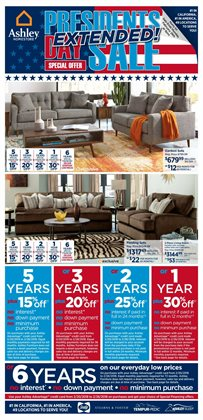 Ashley Furniture deals in the Costa Mesa CA weekly ad