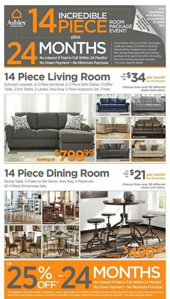 Ashley Furniture deals in the Lakeland FL weekly ad