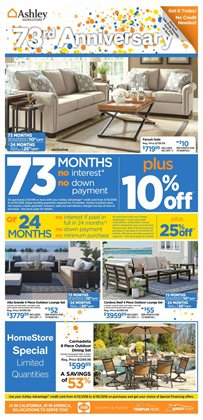 Home & Furniture deals in the Ashley Furniture weekly ad in New York