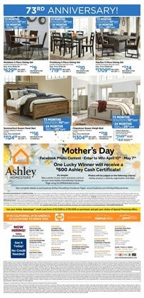 Bedroom deals in the Ashley Furniture weekly ad in New York