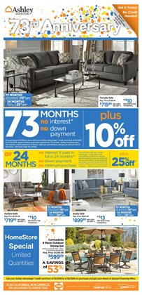 Home & Furniture deals in the Ashley Furniture weekly ad in Newark DE