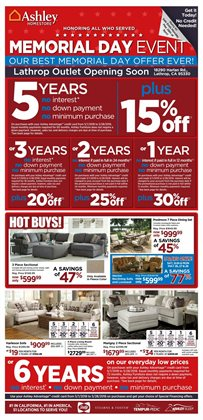 Ashley Furniture deals in the New Castle DE weekly ad