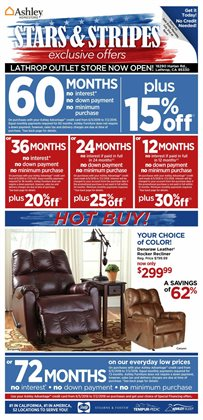 Ashley Furniture deals in the Sioux Falls SD weekly ad