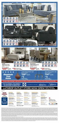 Dining room deals in the Ashley Furniture weekly ad in New York