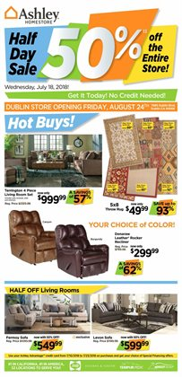Ashley Furniture deals in the Houston TX weekly ad