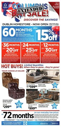 Furniture deals in the Ashley Furniture weekly ad in Akron OH
