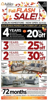 Home & Furniture deals in the Ashley Furniture weekly ad in Johnstown PA
