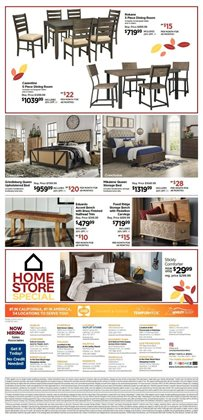 Furniture deals in the Ashley Furniture weekly ad in Sioux Falls SD