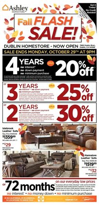 Ashley Furniture deals in the New York weekly ad