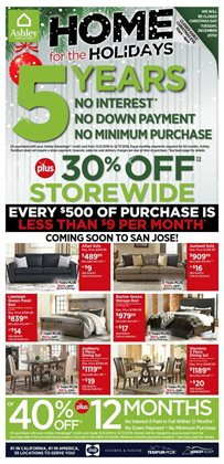 Home & Furniture deals in the Ashley Furniture weekly ad in Poughkeepsie NY