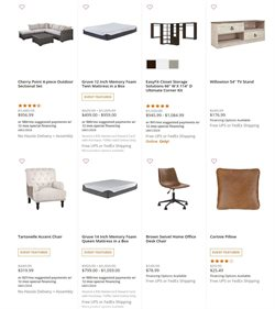 UPS deals in Ashley Furniture