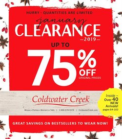 Coldwater Creek deals in the Kingston NY weekly ad
