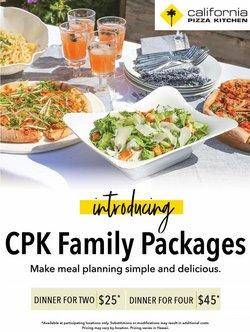 Restaurants deals in the California Pizza Kitchen catalog ( Expires tomorrow)