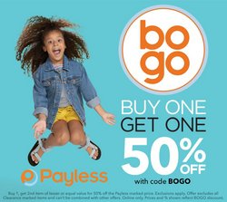 Payless deals in the Payless catalog ( Expires today)