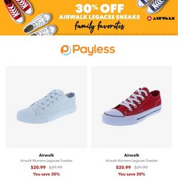 Clothing & Apparel deals in the Payless catalog ( Expires tomorrow)