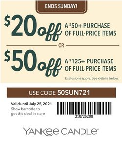 Yankee Candle deals in the Yankee Candle catalog ( Expired)