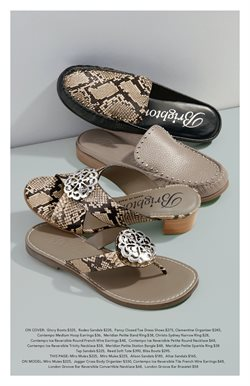 Sandals deals in the Brighton Collectibles weekly ad in Dallas TX