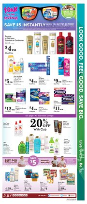 Gel deals in the Pavilions weekly ad in Los Angeles CA