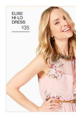Dress deals in the Charming Charlie weekly ad in Los Angeles CA