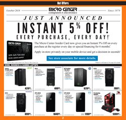 Laptop deals in the Micro Center weekly ad in Pontiac MI