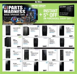 Intel deals in the Micro Center weekly ad in New York