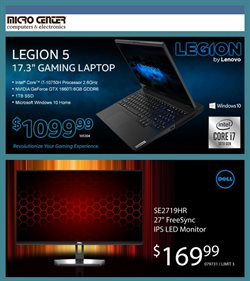 Electronics & Office Supplies offers in the Micro Center catalogue in New Rochelle NY ( 16 days left )