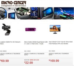 Electronics & Office Supplies deals in the Micro Center catalog ( 5 days left)