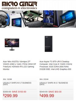 Electronics & Office Supplies deals in the Micro Center catalog ( Published today)