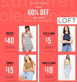 Clothing & Apparel deals in the Loft catalog ( Expires today)