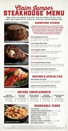 Restaurants deals in the Claim Jumper catalog ( 8 days left)