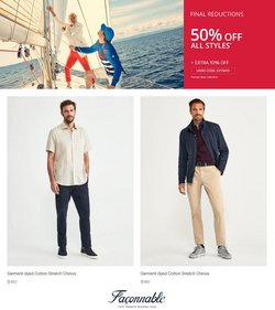 Clothing & Apparel deals in the Faconnable catalog ( Published today)