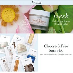 Beauty & Personal Care deals in the Fresh catalog ( 5 days left)