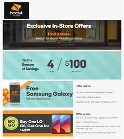 Boost Mobile deals in the Humble TX weekly ad