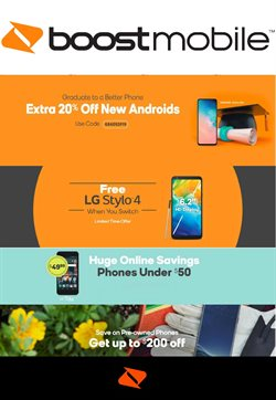 Electronics & Office Supplies deals in the Boost Mobile weekly ad in Aiken SC