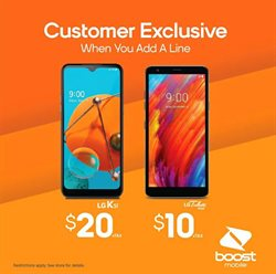 Electronics & Office Supplies offers in the Boost Mobile catalogue in Seattle WA ( 29 days left )