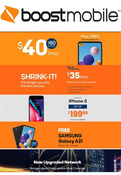 Boost Mobile catalogue ( 11 days left )