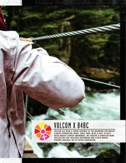 Fleece deals in the Volcom weekly ad in New York