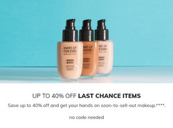 Make Up For Ever coupon in High Point NC ( 7 days left )