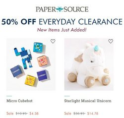 Gifts & Crafts deals in the Paper Source catalog ( Published today)