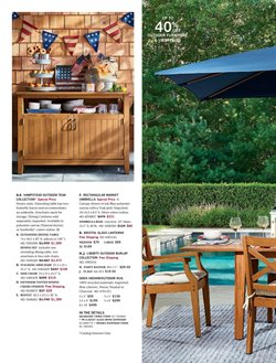 Storage deals in the Pottery Barn weekly ad in New York