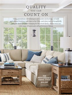 Furniture deals in the Pottery Barn weekly ad in New York