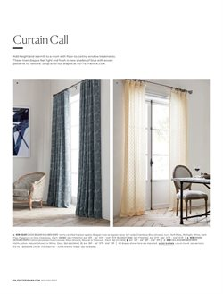 Curtains deals in the Pottery Barn weekly ad in East Lansing MI