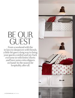 Sheet deals in the Pottery Barn weekly ad in Columbus OH