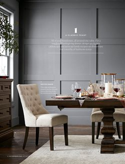 Table deals in the Pottery Barn weekly ad in New York