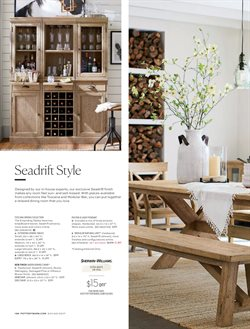 Dining room deals in the Pottery Barn weekly ad in New York