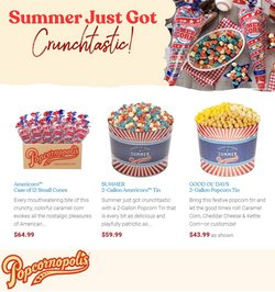 Restaurants deals in the Popcornopolis catalog ( 23 days left)