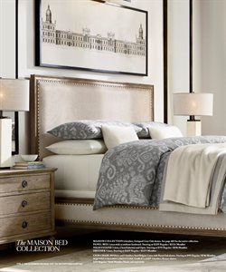 Bed deals in the Restoration Hardware weekly ad in Yorba Linda CA
