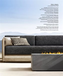 Covers deals in the Restoration Hardware weekly ad in New York